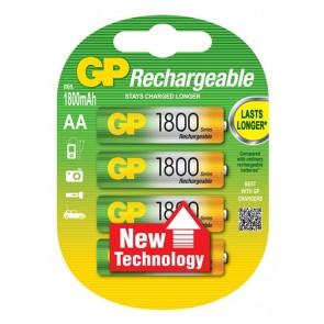AA 1800 mAh Ni-Mh polnilna GP baterija (4 kosi)