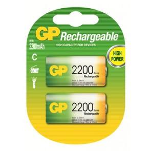 C 2200 mAh Ni-Mh polnilna GP baterija (2 kosa)