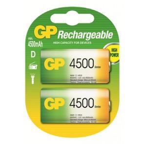 D 4500 mAh Ni-Mh polnilna GP baterija (2 kosa)