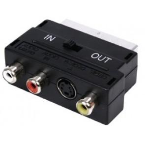 Skart adapter (skart - 3 x činč + S-VHS + stikalo)