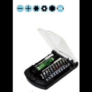 23-delni komplet izvijačev in šestrobnih ključev v dveh modelih 4mm in 1/4