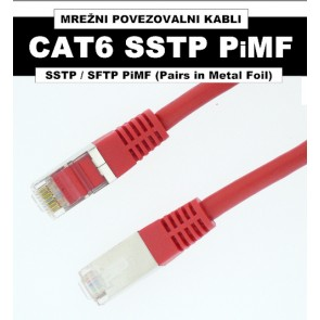SSTP PiMF Povezovalni kabel Patch Cat. 6, dolžina 1 m