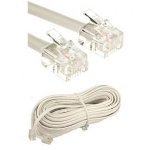 VRVICA telefonska s konektorji 5m bela Rj11