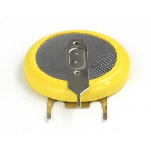LiIon polnilna gumb baterija LIR 2032H za vertikalno montažo s tremi pini