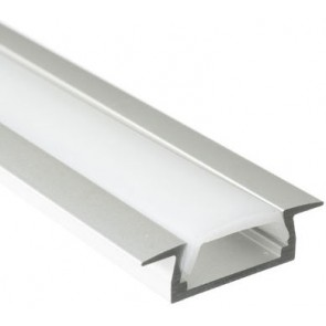 LED alu profil vgradni + mlečna blenda - 2m