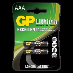 AAA Litijeva baterija 1,5 V GP Lithium (2 kosa)