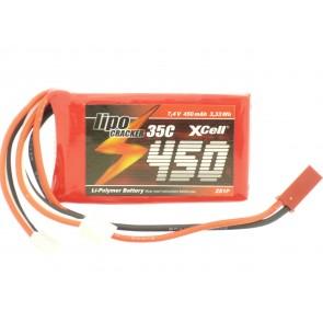 Li-poly baterija 7,4V 450mAh