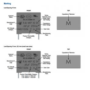 Poliesterski kondenzator x2 1 uf