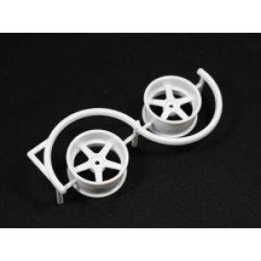 Drift platišča 5 krakov 6mm offset bela - 2 kosa